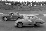 Erik i Fiat #25 på Roskilde Ring 1957.
