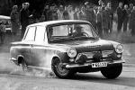 Erik började köra för Ford 1963, här i en Cortina i Midnattssolsrallyt.