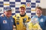 Richard Göransson gratulerade Bergers till framgångarna på Knutstorp.
