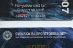 Erik Berger fick Superlicens av Svenska Bilsportförbundet.