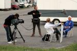 Erik blir intervjuad av Johan Maceus på Gelleråsen.