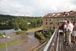 Så här ser utsikten ut från terrassen på taket på butiken Bergers Bosättning.