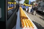 Bergers Bosättning bjöd på en 100 meter lång tårta!