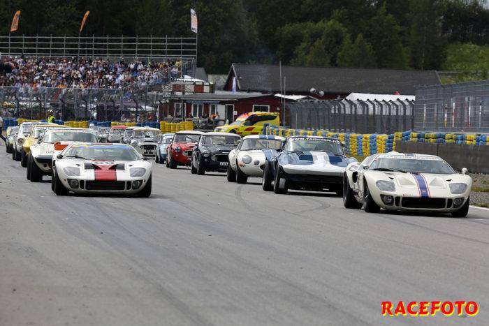 Mäktig startbild från fjolårets tävling. I år blir det ännu större heat med V8:or!