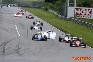 #79 Tomas Otterberg vann helgens ena heat i Formula Slicks.
