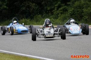 Jimmy Carlstedt vann sin första seger i Formel Vee.