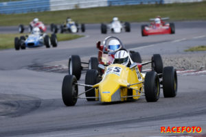 Henry Sandblom tog en dubbelseger i Formel Ford 1600cc.