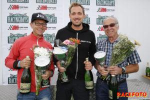 Topptrion i Formel Ford 1600cc. Fr v: Nicklas Nilsson, Henry Sandblom & Björn Otterberg.
