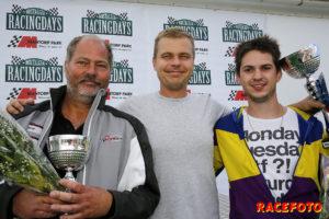 Pallen i Formel Vee. Fr v: Jimmy Carlstedt, Thomas Marklund & Pontus Bencsik.