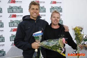 Mattias Ståhlberg vann ena racet i 1000cc Cupen. Torbjörn Andersson kom trea och tvåa.
